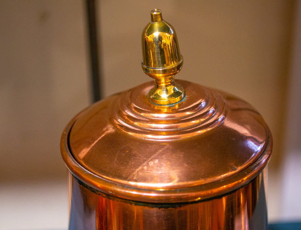 Polished Copper Coffee Pot Antique 19th Century