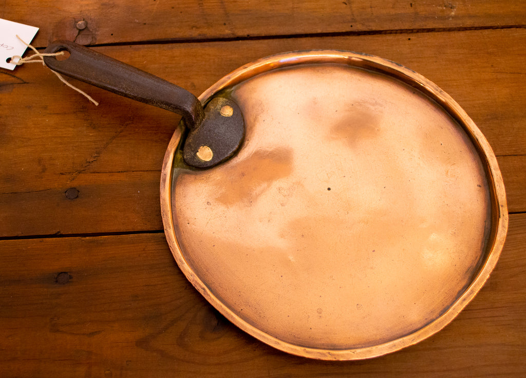 Polished Copper Pot or Pan Lid Antique 19th Century