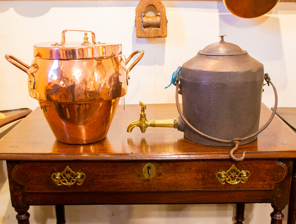 Polished Copper Pressure Cooker Pot Antique 19th Century