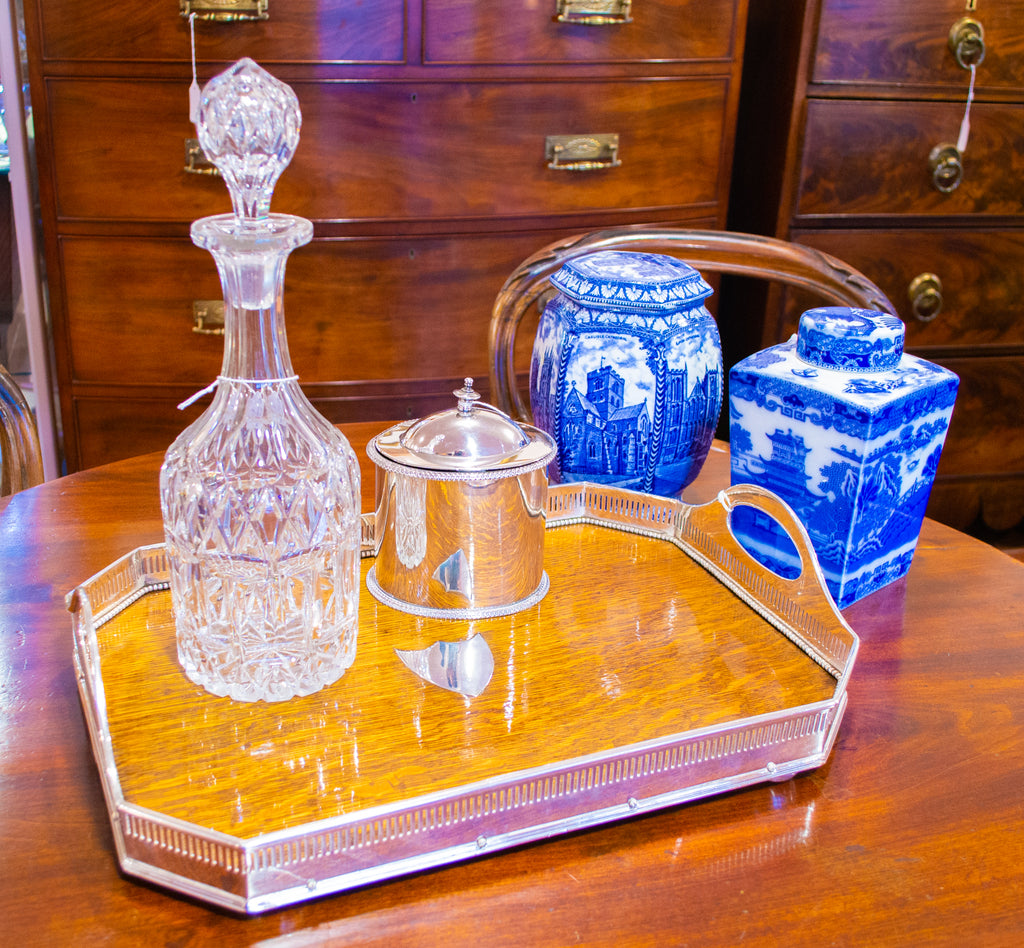 Tall Cut Glass Decanter Victorian 19th Century