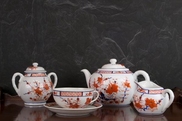 Chinese porcelain tea set for six 1930s