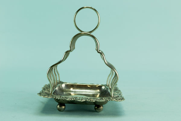 Small silver plated toast rack, early 1900s