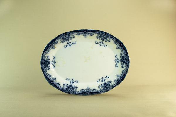 Blue and white serving platter, circa 1900