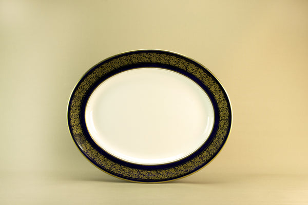 Large blue and gold platter, 1920s