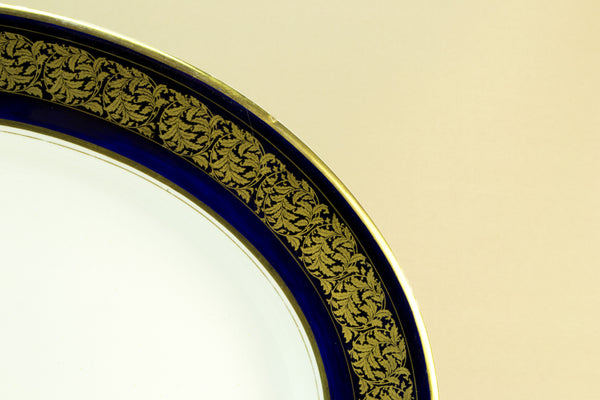 Large blue and gold platter, 1920s by Lavish Shoestring