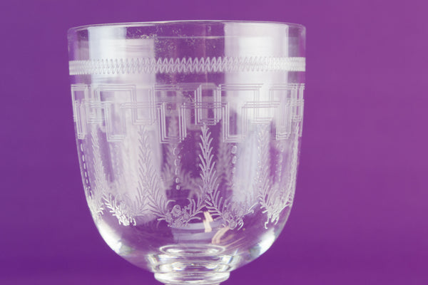 4 Edwardian port glass, circa 1910 by Lavish Shoestring