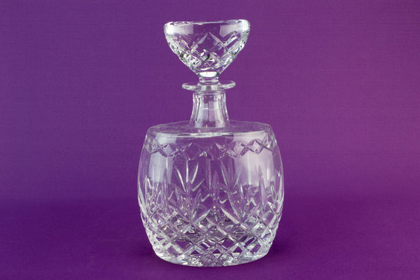 Heavy cut glass decanter