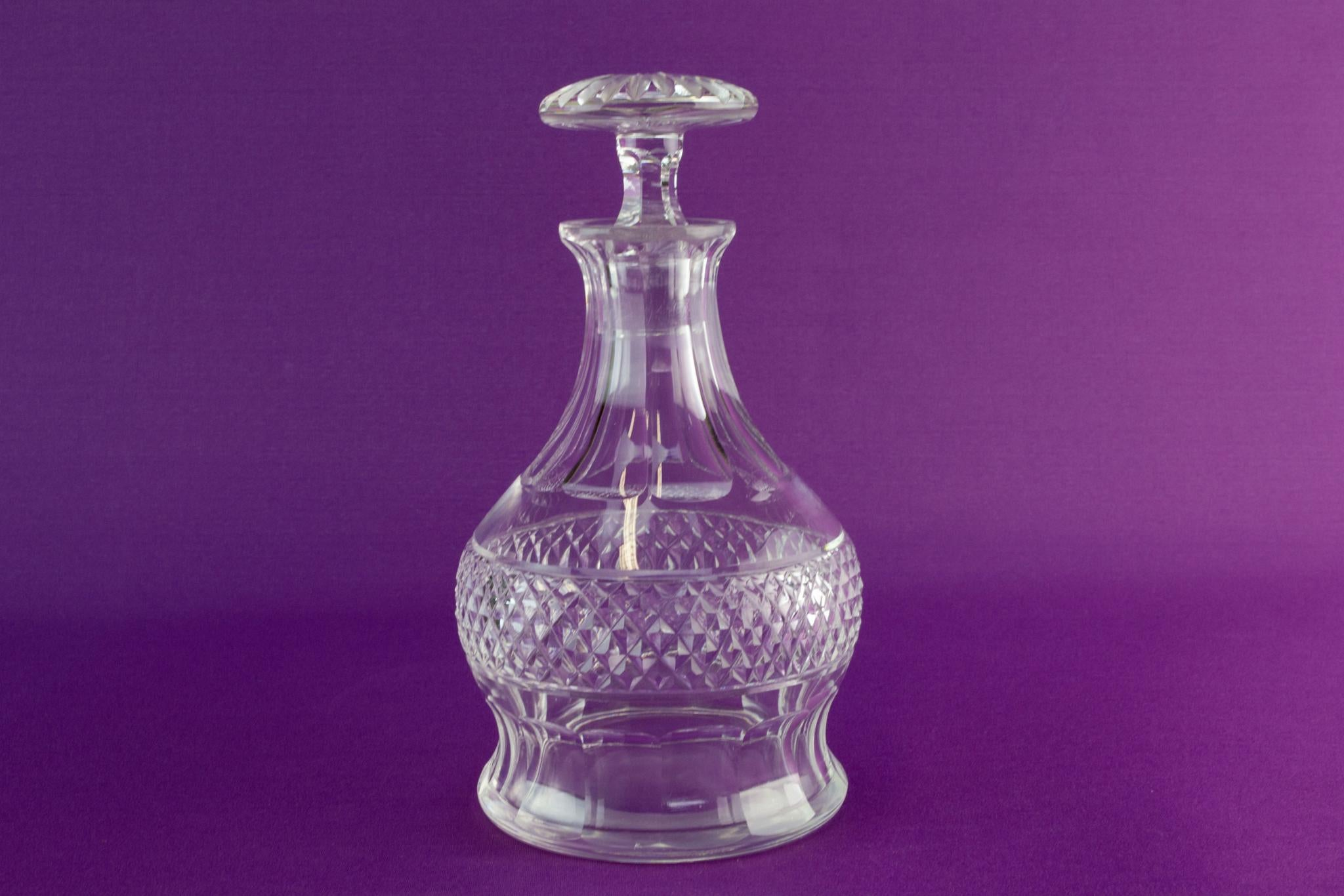 Cut glass thistle decanter, early 1900s