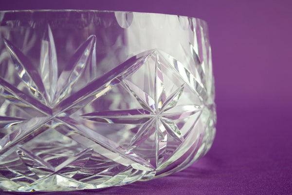 Cut glass fruit bowl by Lavish Shoestring