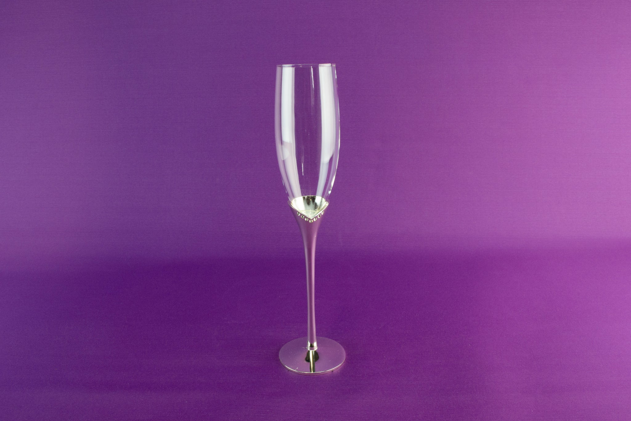 2 tall champagne flutes by Nobile