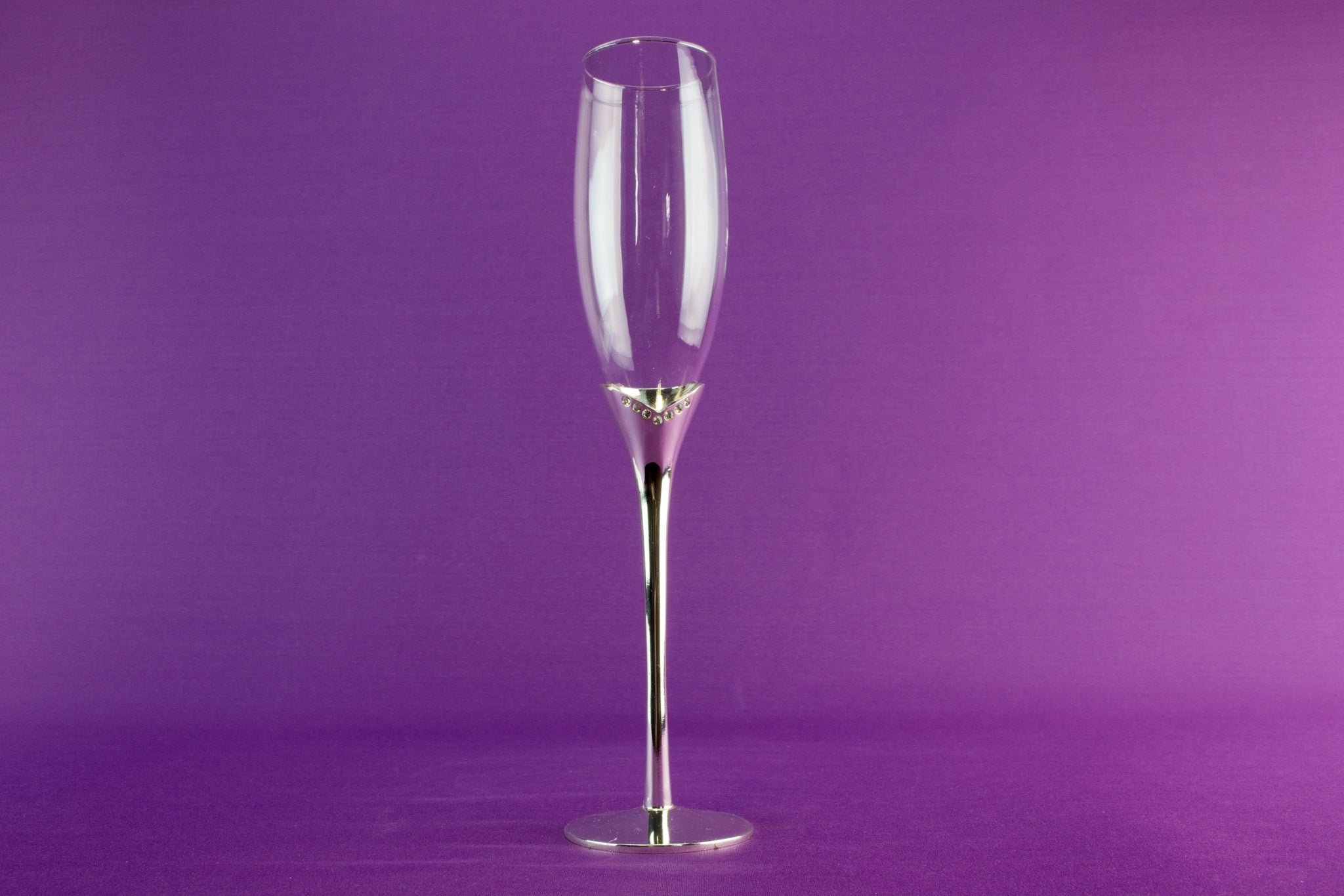 2 tall champagne flutes by Nobile by Lavish Shoestring