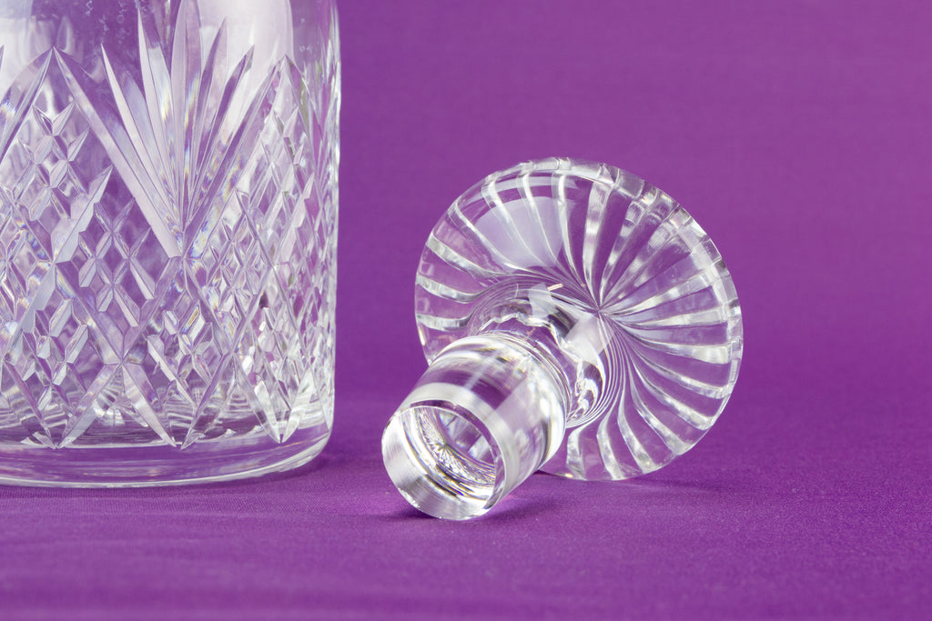 Mallet shaped glass decanter, late 20th c by Lavish Shoestring