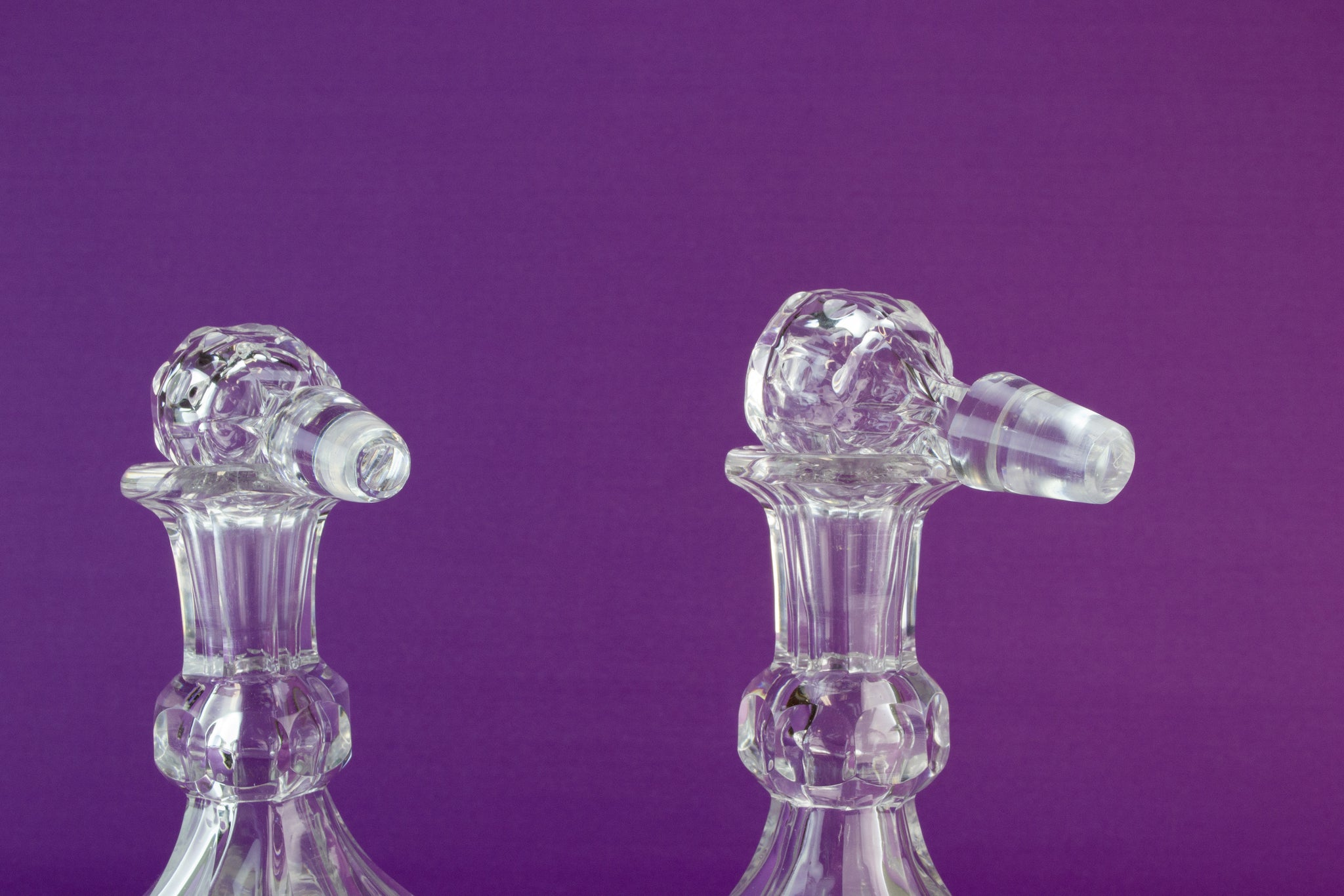 2 Stevens & Williams decanters, 1860s by Lavish Shoestring