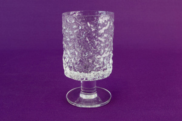 6 Whitefriars wine glasses, circa 1970
