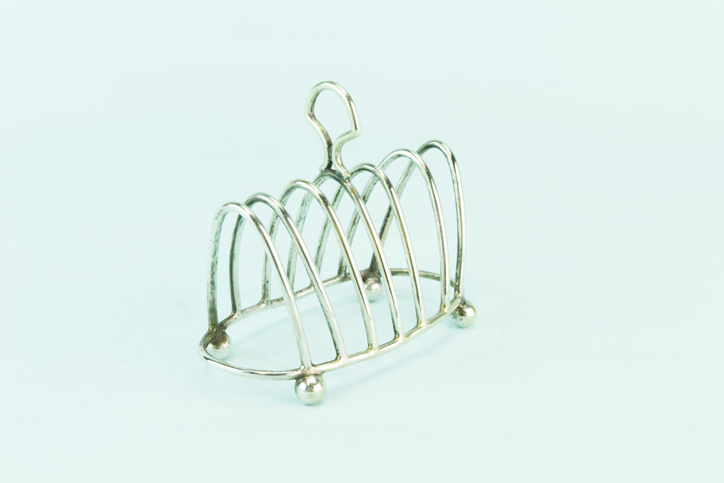 Silver plated toast rack, early 1900s