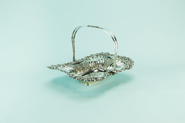 Silver plated fruit basket, mid 19th century