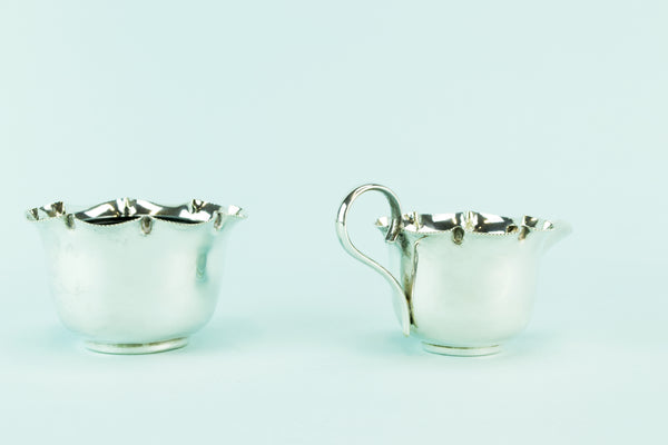 Silver plated milk & sugar set, 1930s by Lavish Shoestring