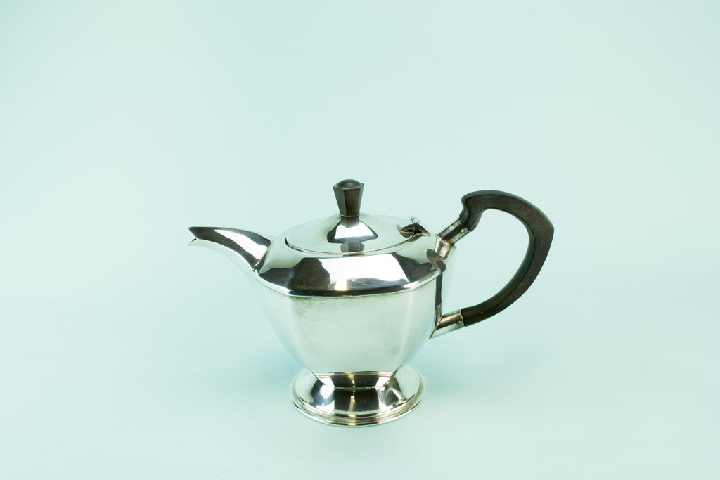 Hexagonal Art Deco teapot, 1930s