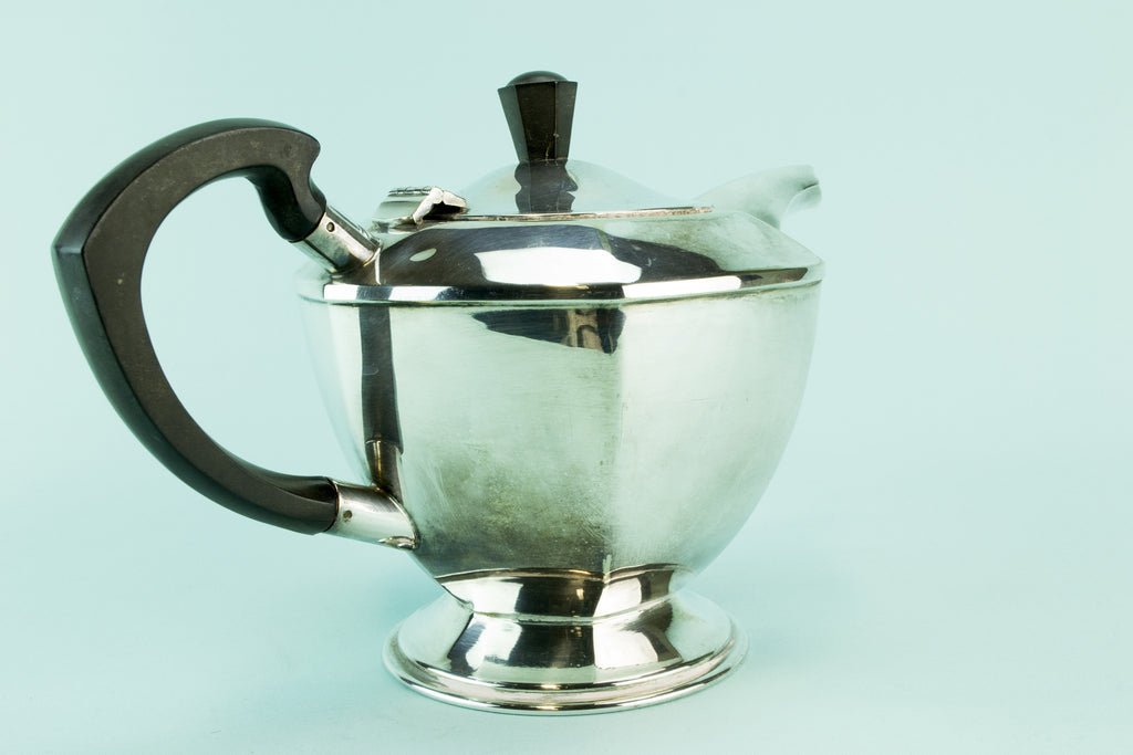 Hexagonal Art Deco teapot, 1930s by Lavish Shoestring