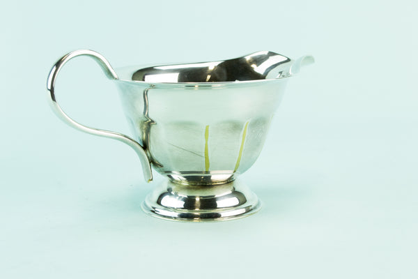Silver plated creamer, mid 20th c by Lavish Shoestring