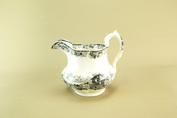 Black and white jug, mid 19th c
