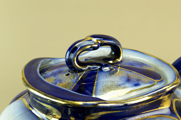 Flow blue teapot, circa 1890 by Lavish Shoestring