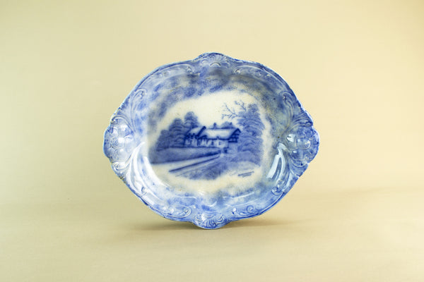 Pale blue and white bowl, late 19th c