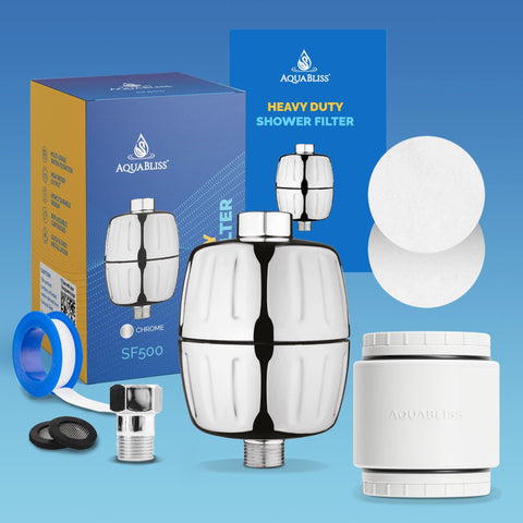 AquaBliss Heavy Duty Shower Filter - #1 MULTI-STAGE Shower Filter is Now Even Better (SF500)