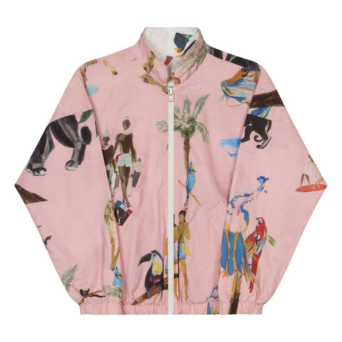 Teddy Allover reversible Jacket Animals/ Pink Party