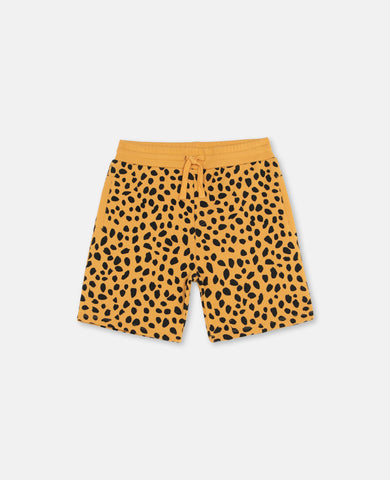 Cheetah Dots Fleece Shorts - Zirkuss