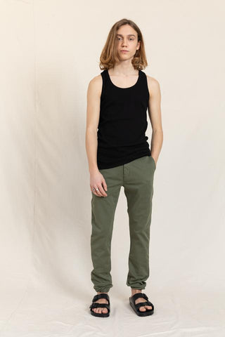 SKATER City Khaki - Elasticed Bottom Chino Fit Pants - Zirkuss