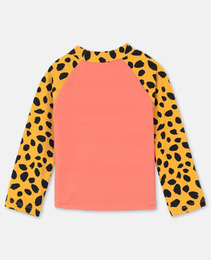 Swim Tee with Cheetah Print - Zirkuss