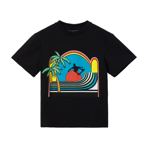 Black Tee with Sunset Skater (no beschreibung) - Zirkuss