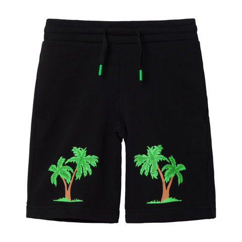 Fleece Shorts with Palm Prints - Zirkuss