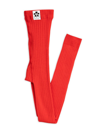 8-12 Jahre, 8-12 Years - Leggings Ribbed Red