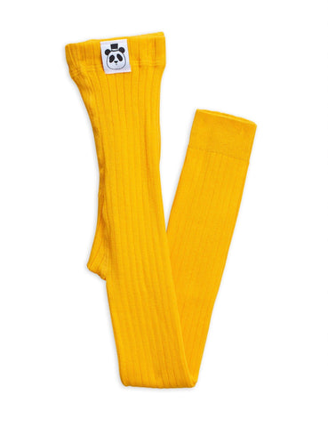 8-12 Jahre, 8-12 Years - Leggings Ribbed Yellow