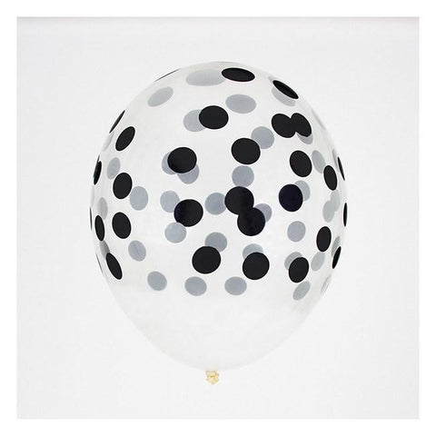 My Little Day 5 Printed Confetti Balloons Black - Zirkuss
