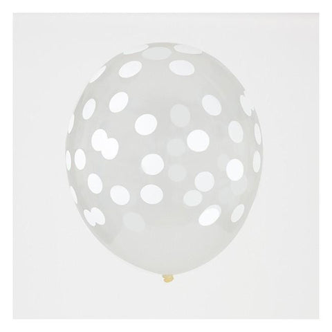 8-12 Jahre, 8-12 Years - My Little Day 5 Printed Confetti Balloons - White