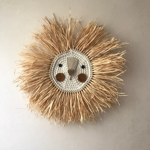 Wall Deco Lion Crochet Big Brown - Zirkuss