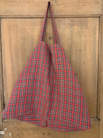 Linge Particulier Bag Large Tartan Red
