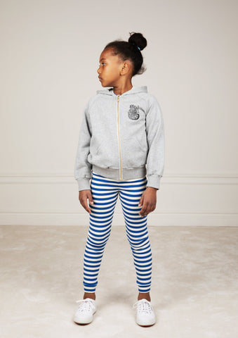 Stripe Rib Leggings Blue/White - Zirkuss