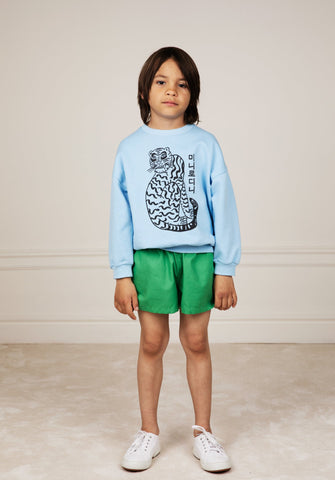 Tiger Sp Sweatshirt Blue - Zirkuss
