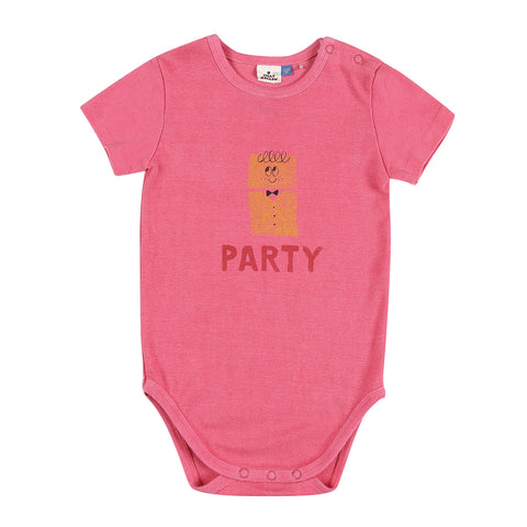 Party Short Sleeve Baby Body Cherry Pink Jelly Mallow | Zirkuss