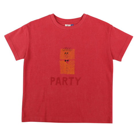 Party Short Sleeve T-shirt Cherry Pink