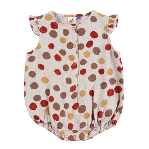 Polkadot Baby Playsuit Beige Jelly Mallow | Zirkuss