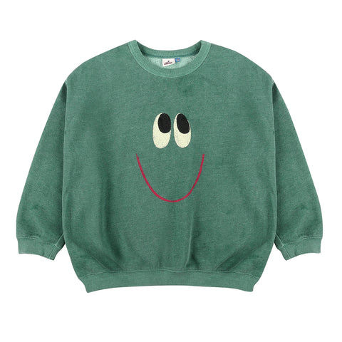 Smile Sweatshirt Green