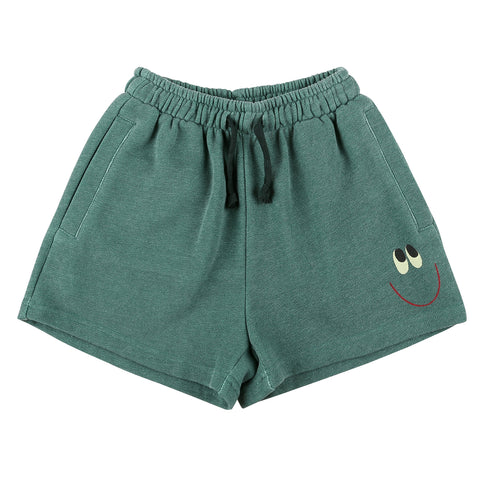 Smile Cotton Shorts Green Jelly Mallow | Zirkuss