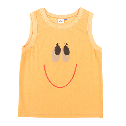 Smile Sleeveless T- Shirt Orange