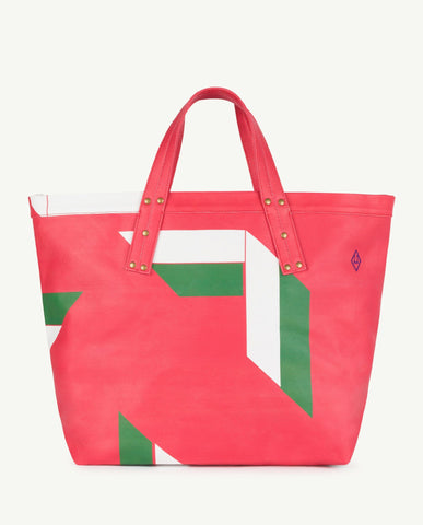 Canvas Totebag Fiery Red Geometric The Animals Observatory | Zirkuss