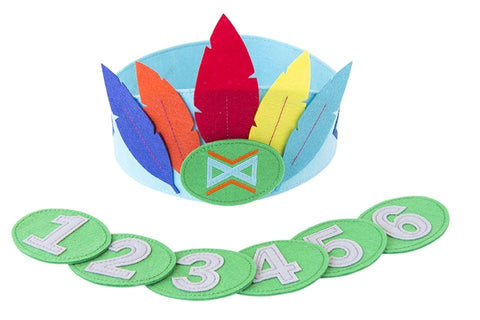 Accessoires, Accessoires - Felt Crown With Seperate Numbers Blue